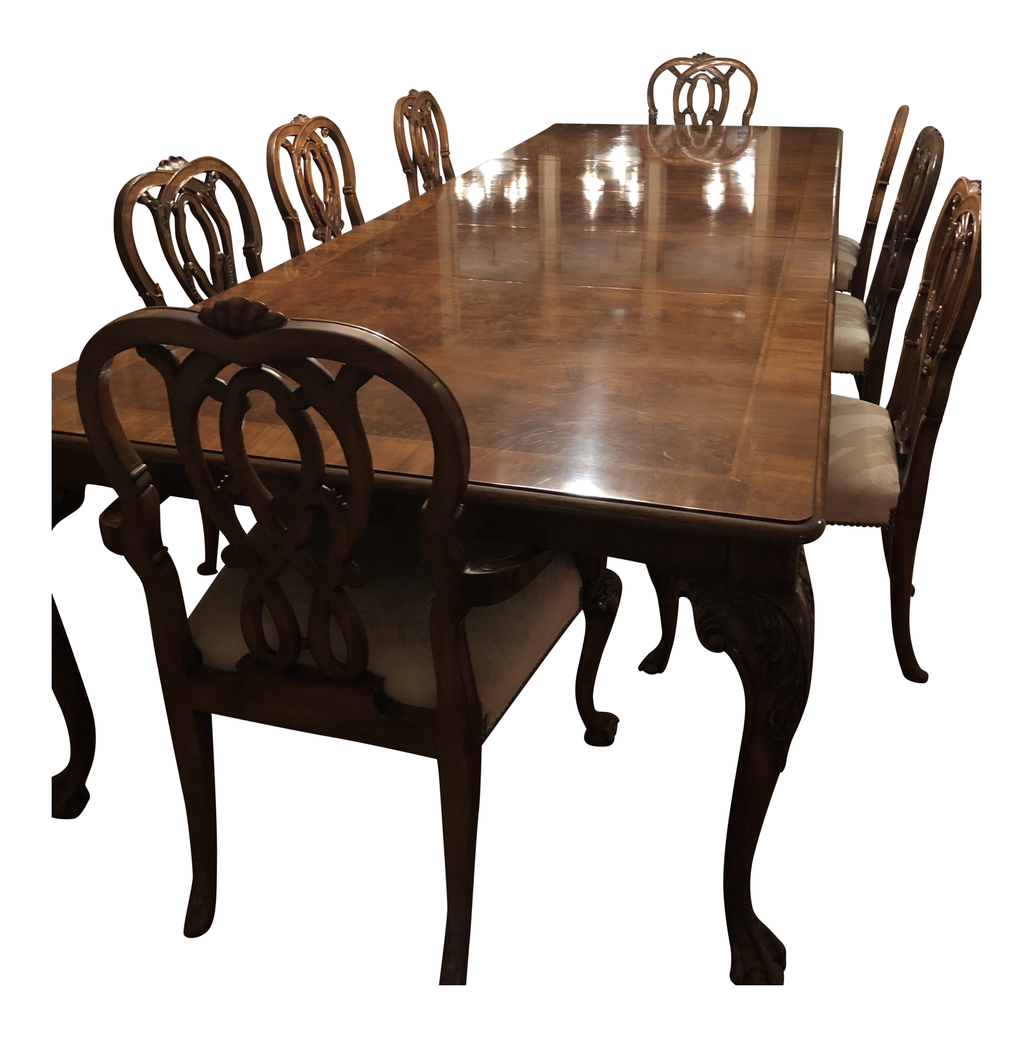 karges round dolphin base dining table chairish rh chairish com