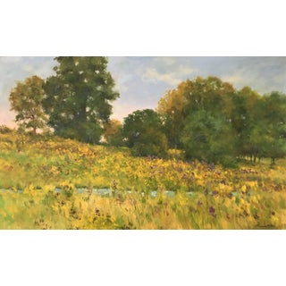 "Thomas McNickle ""September Hillside"" Contemporary Traditional Landscape Oil Painting For Sale"