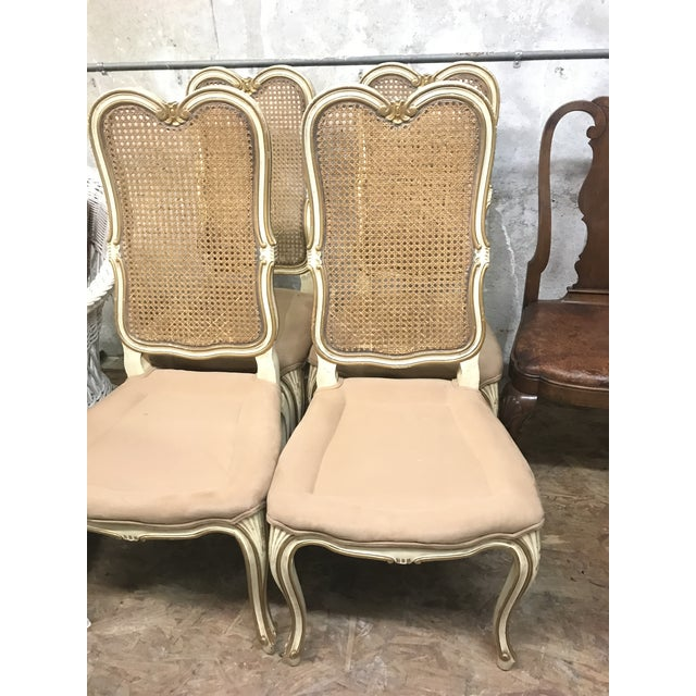 Vintage Mid Century Louis XV French Chairs- Set of 4 For Sale - Image 4 of 5