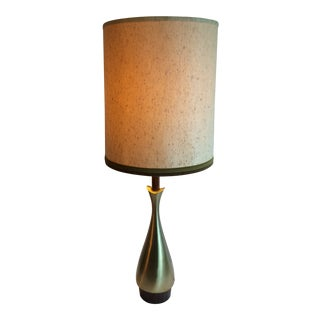 1950s Mid-Century Laurel Table Lamp With Original Shade For Sale