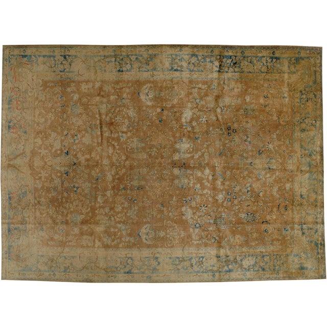"Antique Persian Tabriz Rug - 9'5"" X 12'8"" - Image 1 of 5"