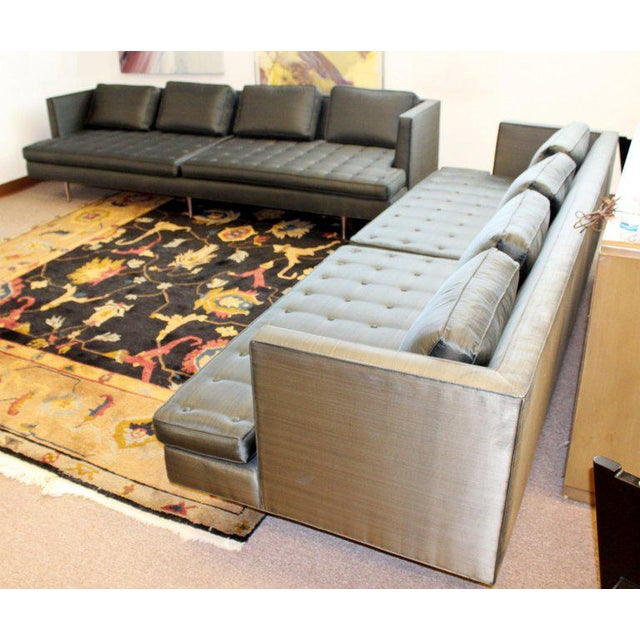 Mid-Century Modern Style Pair Wormley for Dunbar Chamberlain Model 4907a Sofas For Sale - Image 10 of 11