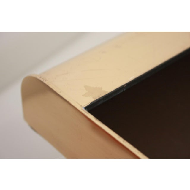 William Sklaroff Radius Two Brass Desk Tray For Sale - Image 10 of 11