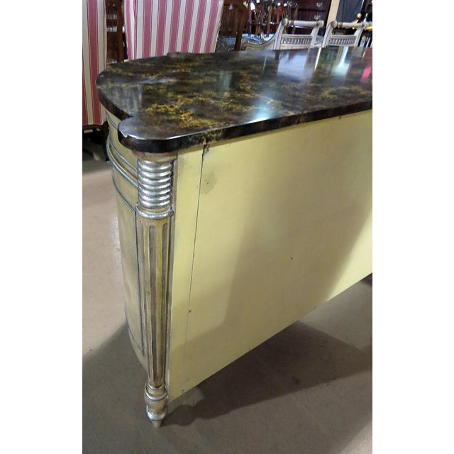 Maitland Smith Faux Marble Top Commode For Sale In Philadelphia - Image 6 of 13