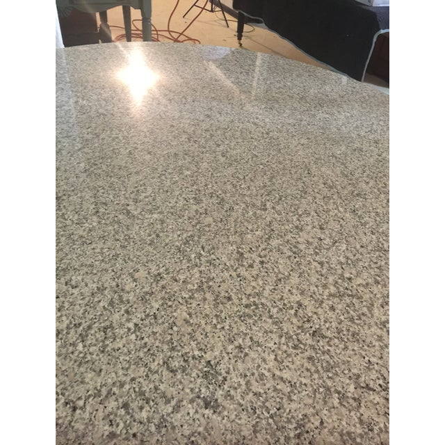 Brueton Marble & Chrome Dining Table For Sale - Image 4 of 9