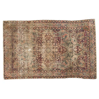 "Antique Kerman Rug - 3'10"" X 5'11"" For Sale"