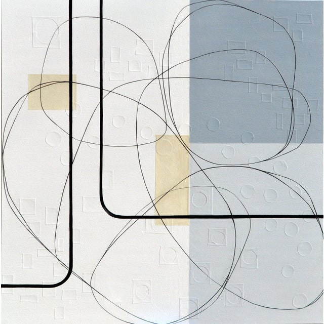 Maura Segal Intersections Gray White Modern Painting 2018 For Sale In New York - Image 6 of 6