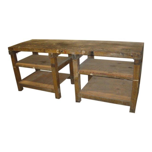 1900s Industrial Railroad Work Bench For Sale