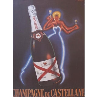 1980's French Champagne Poster, Champagne De Castellane (Reproduction), by Falucci Preview