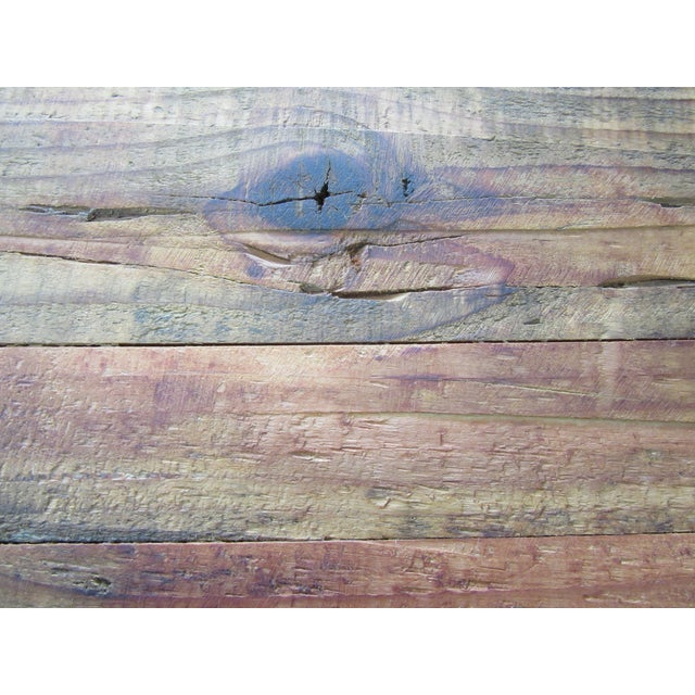 Rustic Reclaimed Pine Peg-Jointed Coffee Table - Image 9 of 11