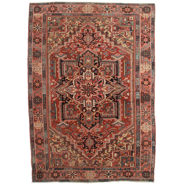 Hand Knotted Persian Habriz Rug - 7′9″ × 10′11″ For Sale