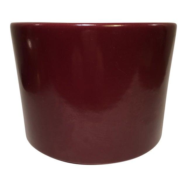 Vintage Gainey Burgundy Gloss Planter - Image 1 of 4