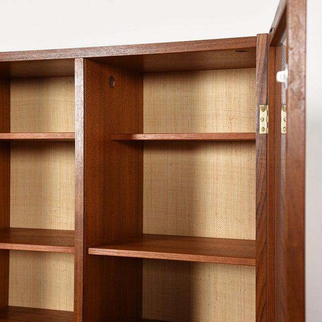 Danish Modern Teak Hanging Display Cabinet With Glass Doors For Sale In Washington DC - Image 6 of 8