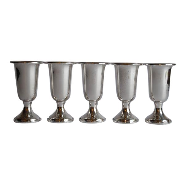 Sterling Silver Shot / Cordial Glasses - Set of 5 - Image 1 of 5