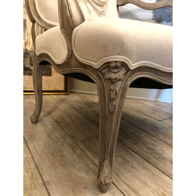 Italian Mid-Century Louis XV Style Hand-Painted Fauteuils - a Pair For Sale In West Palm - Image 6 of 13