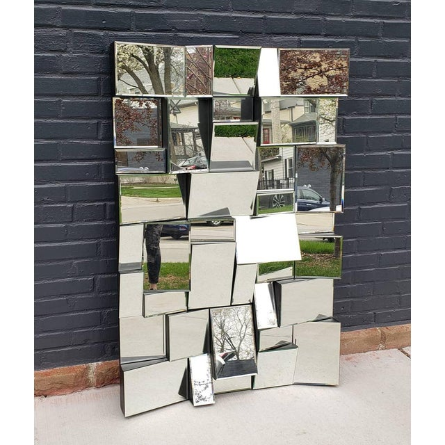 Neil Small Faceted Slopes Mirror For Sale - Image 10 of 10