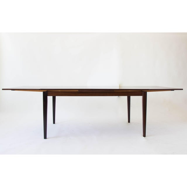 Rosewood Dining Table with Dutch Extension by Gudme For Sale In Los Angeles - Image 6 of 9