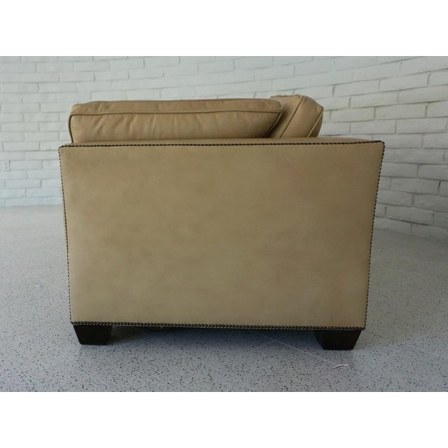 Traditional Traditional Light Camel Leather Sleeper Sofa For Sale - Image 3 of 11