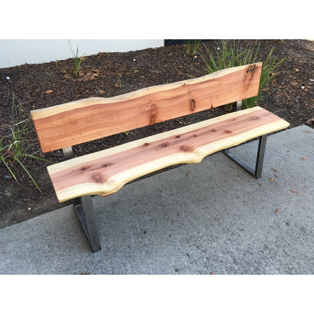 Phenomenal Redwood Live Edge Slabs Bench Evergreenethics Interior Chair Design Evergreenethicsorg