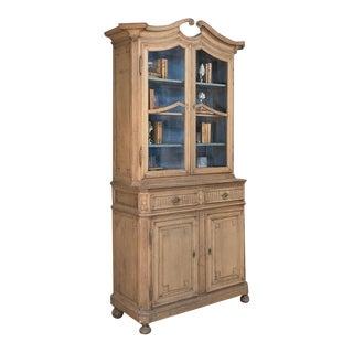 19th Century Dutch Stripped Oak Bookcase ~ Vitrine For Sale