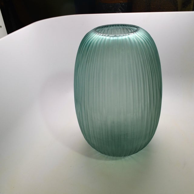 2010s Bungalow 5 Small Gray Blue Moderni Vase For Sale - Image 5 of 9