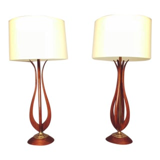 Mid-Century Adrian Pearsall Style Table Lamps - A Pair