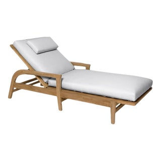 Giati Rinato Chaise Lounge in Natural Canvas For Sale
