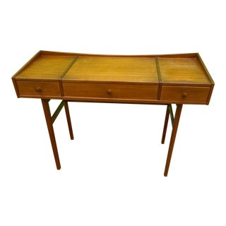 Danish Mid-Century Modern Teak Vanity Dressing Table For Sale