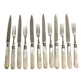 1928 Sterling & Pearl Small Bites / Fruit Cutlery Set