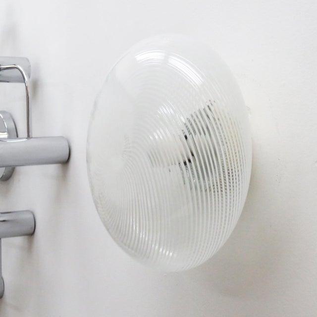 Mid-Century Modern 1970s Murano Glass Flush Mount Wall Light For Sale - Image 3 of 8