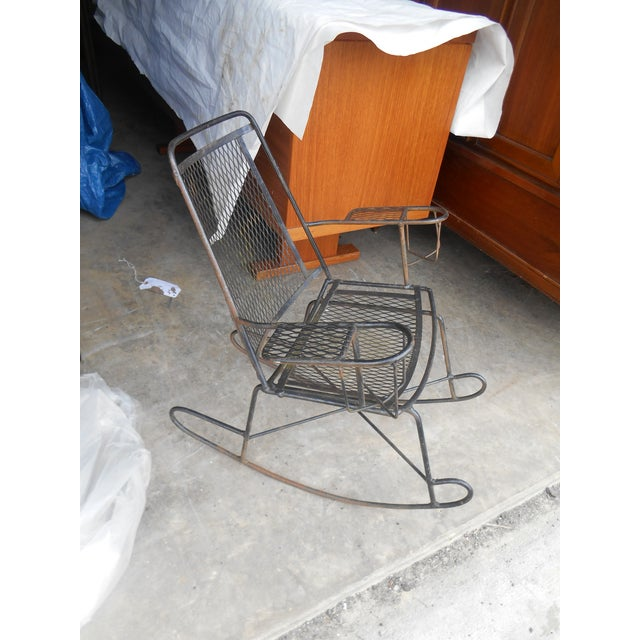Incredible 1960S Antique Wrought Iron Wire Childrens Rocking Chair Machost Co Dining Chair Design Ideas Machostcouk