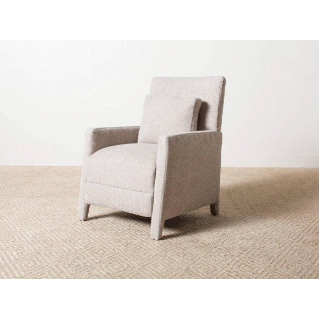 Contemporary Verellen Tan Wool Upholstered Alois Recliner For Sale - Image 6 of 7
