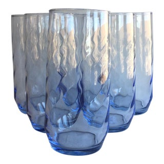 Vintage Swirl Cooler Glasses - Set of 6