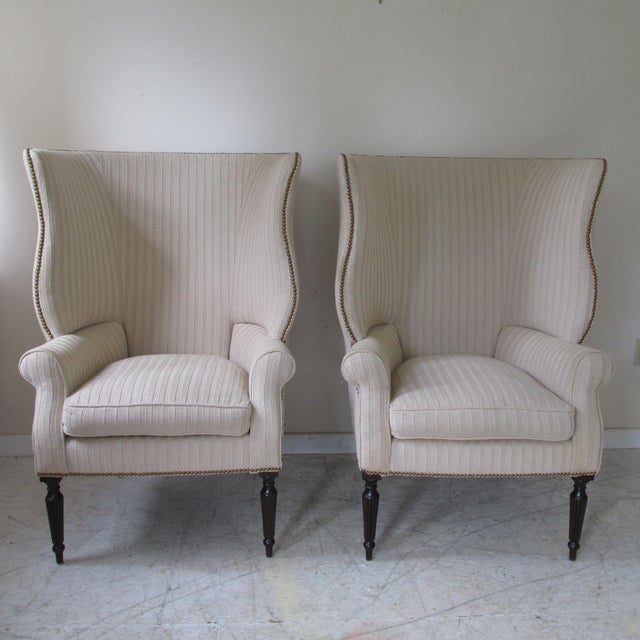 Victoria Hagen Home ''Wainscott'' Wingback Chairs- A Pair For Sale - Image 10 of 10