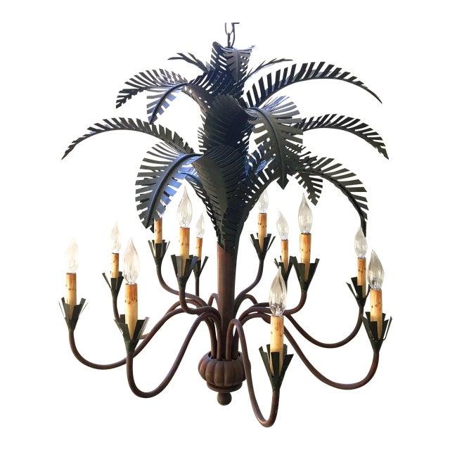 Currey co 12 light palm tree chandelier chairish 12 light palm tree chandelier aloadofball Choice Image