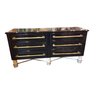 Black Lacquer 6-Drawer Chest