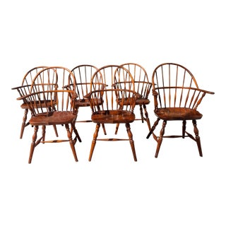 Late 20th Century Windsor Chairs - Set of 6 For Sale