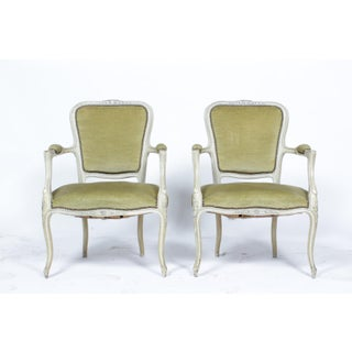 1960's Pair of Painted Louis XVI Armchairs S/2 Preview