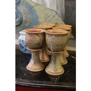 Vintage Earthenware Goblets - Set of 6 Preview
