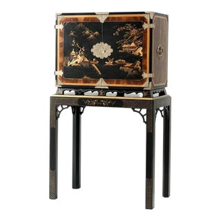 Chinoiserie Bar Cabinet For Sale