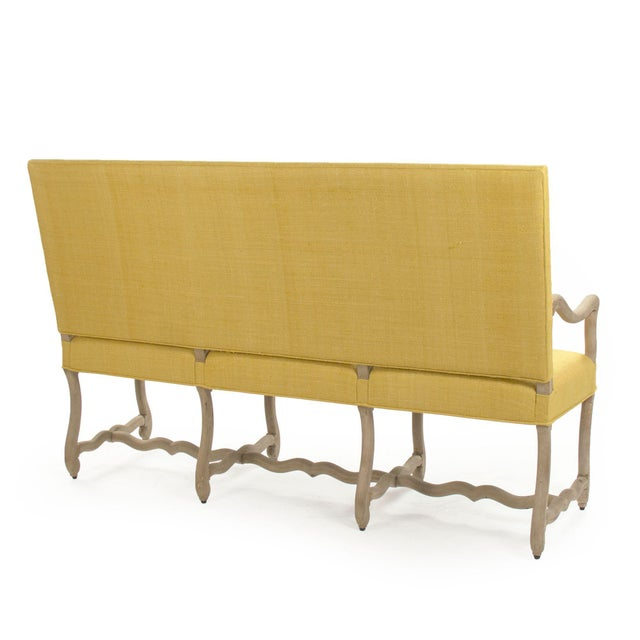 2020s Moor Bench in Small in Mustard For Sale - Image 5 of 6