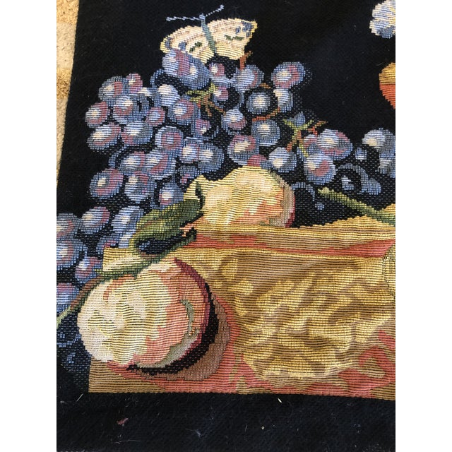 1940s Large Vintage Hanging French Tapestry Wall Art For Sale - Image 5 of 11