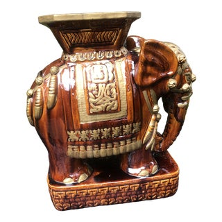 20th Century Porcelain Elephant Stool For Sale