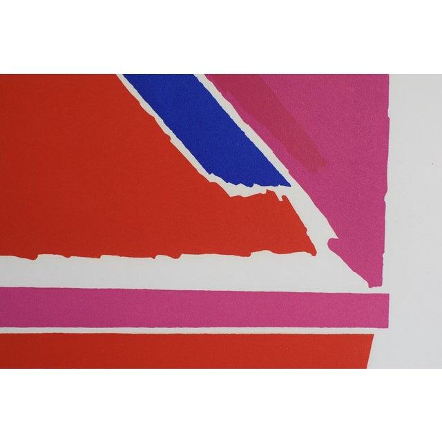 "1960s Vintage Mid-Century ""Untitled"" Piero Dorazio Signed Serigraph Print For Sale - Image 5 of 10"