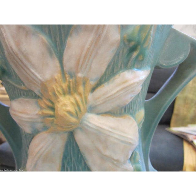 "Extra Large Roseville USA ""Clematis"" Vase - Image 4 of 9"