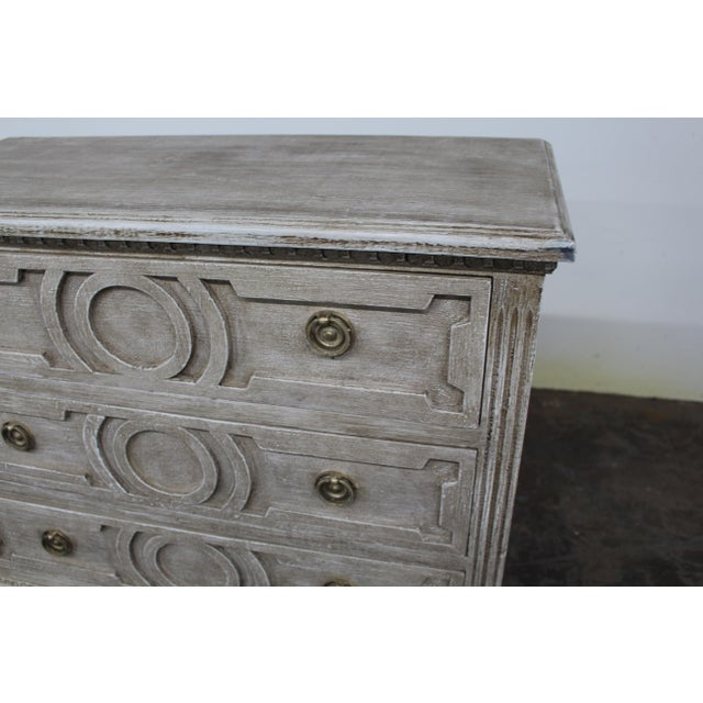 Gray 20th Century Vintage Swedish Gustavian Style Nightstands - a Pair For Sale - Image 8 of 12