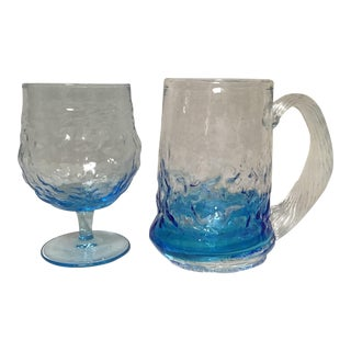 Early 20th Century Ice Goblet and Handled Cup - a Pair For Sale