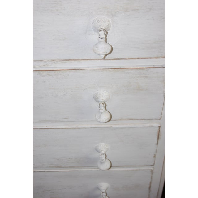 Vintage Shabby Chic White Dresser With Mirror - Image 11 of 11