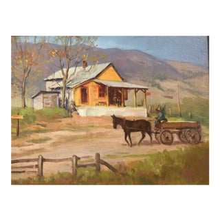 A Carolina Scene Painting, C.1950 For Sale