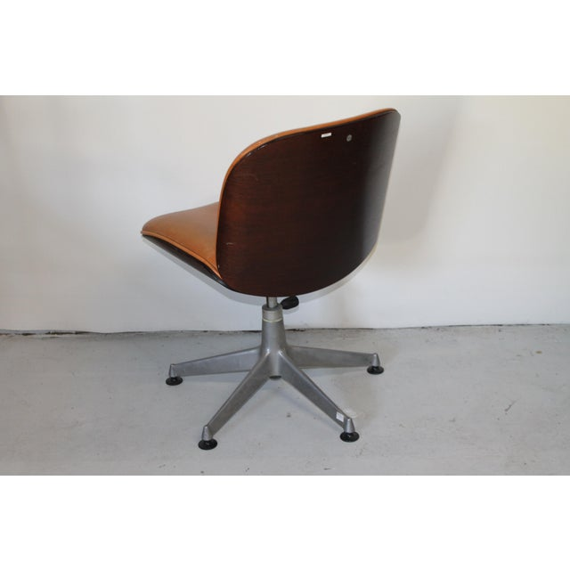 1960s Vintage Ico Parisi Italian Ultra Modern Leather Chairs- A Pair For Sale - Image 10 of 12
